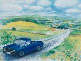 nature sketchbook - ひまわりの丘(水彩8号)