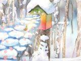コロボックルの島から3 - 冬のむこうから(水彩 変形5号)