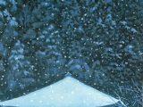 室生暮雪(木版画)