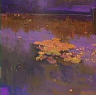 リャド「ジヴェルニーの睡蓮Ⅱ」(技法:シルクスクリーン)