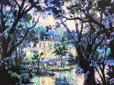 笹倉鉄平「ヴァイオリンの森に(シルクスクリーン)」
