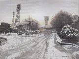 雪の平和台球場