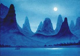 東山魁夷「離江月明」