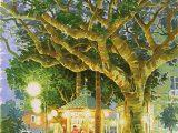大きな木と小さなカフェ(シルクスクリーン)