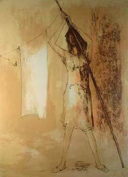 """ジャン・ジャンセン「洗濯物を持つ女 – """"LA FEMME AU LINGE""""(1966年)」"""