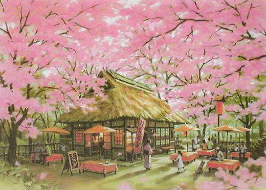 """笹倉鉄平「桜茶屋(シーズンズ)  – """"Petals in Spring""""」"""