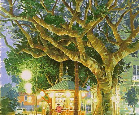 笹倉鉄平「大きな木と小さなカフェ」