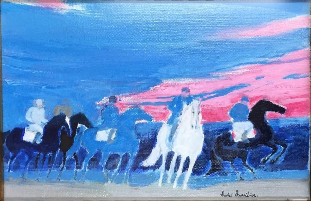 夜明けの乗馬