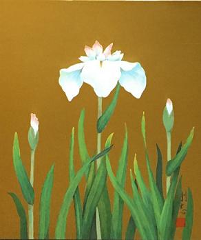 名古屋 剛志 涼華 日本画 6号-2
