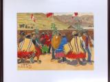 収穫祭村人の踊り(水彩6号)