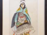 収穫祭の踊り子 スケッチ女(デッサン F6号)