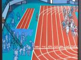 瑞穂競技場風景(油彩F50号)