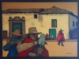 カハマルカのコロニアルの家(油彩 F30号)