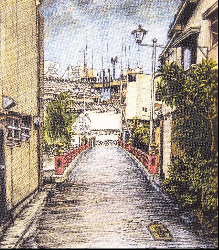 博多、中洲通い橋(博多側より)