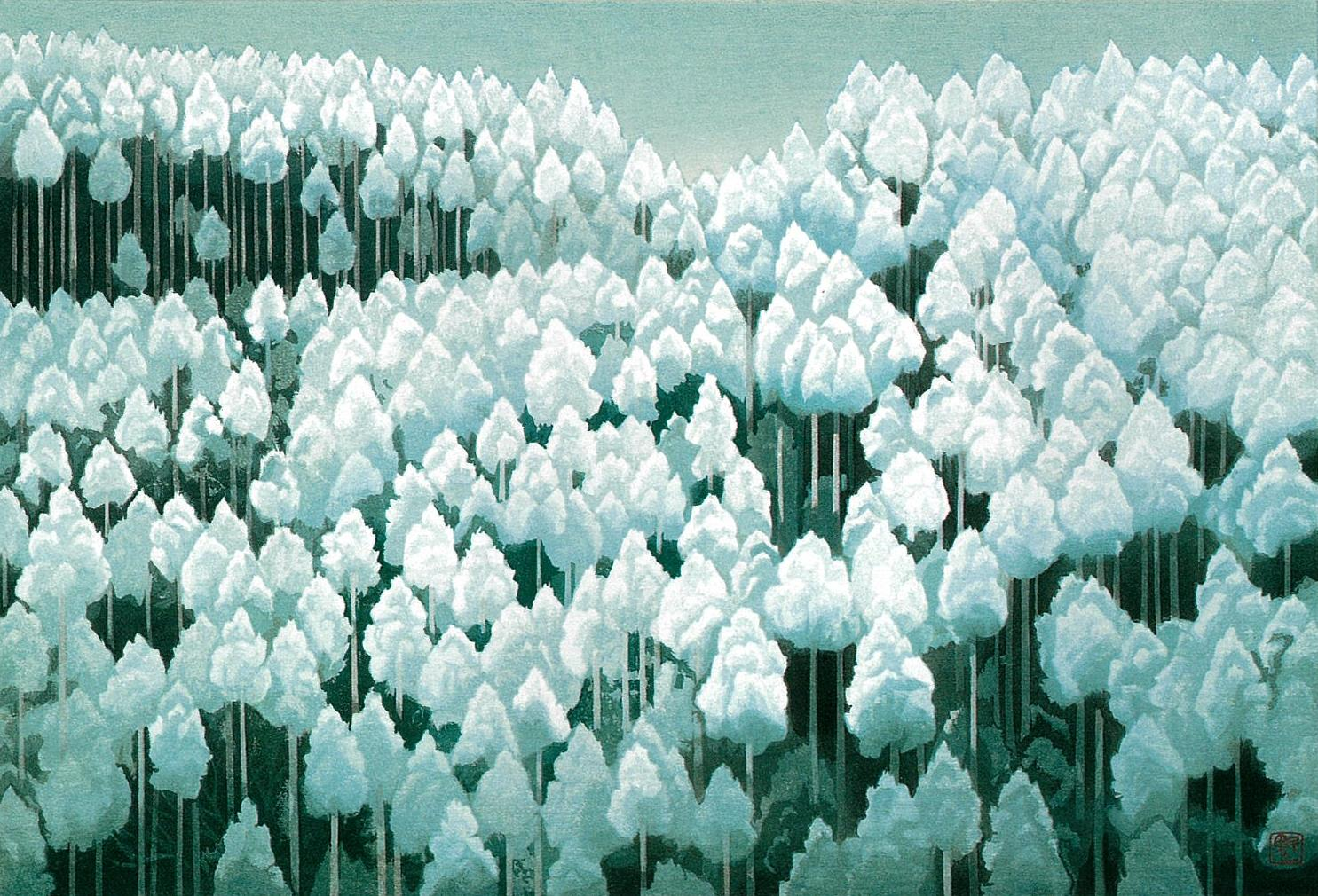 東山魁夷「北山初雪」