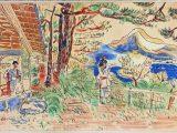 「山荘」(木版画)